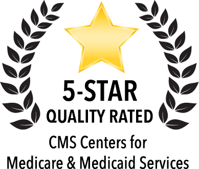 CMS Centers for medicare and Medicaid services 5-Star Quality Rating Badge